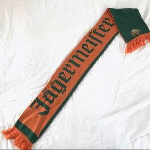 Jagermeister Spellout Knit Scarf Orange & Green
